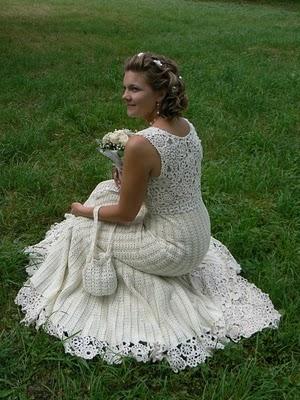 Tejido a crochet: vestido de novia Artículo Publicado el 12.01.2011